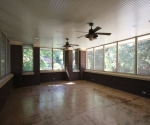 View of the large screened porch