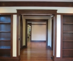 Interior view of the living room and custom millwork