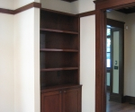 View of custom millwork in the office
