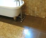 Master Bathroom floor tile detail