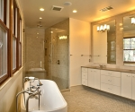 Interior view of the Master Bathroom