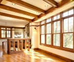 Open family room and kitchen and lots of natural light