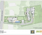 3 home development site plan - This home is the far right lot