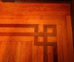 Wood flooring detail.