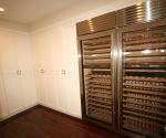 Lower level wine storage